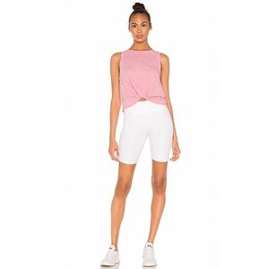 Free People High Rise Ribbed Biker Shorts.